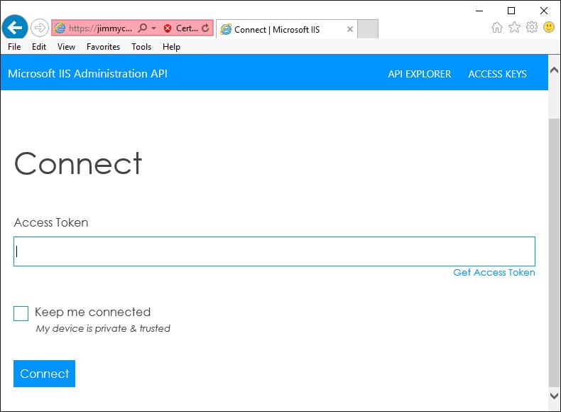 Microsoft IIS Administration API - Introducing the IIS
