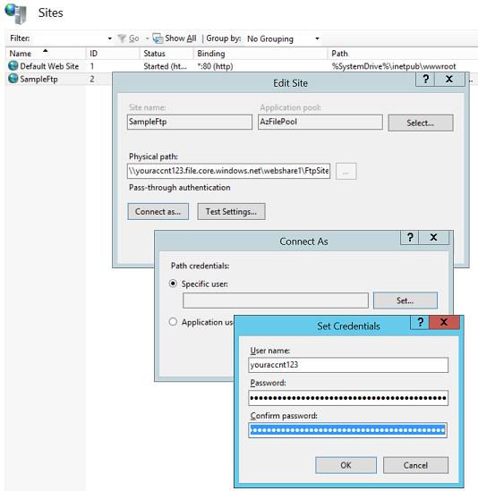 David So's Blog - IIS and Azure Files