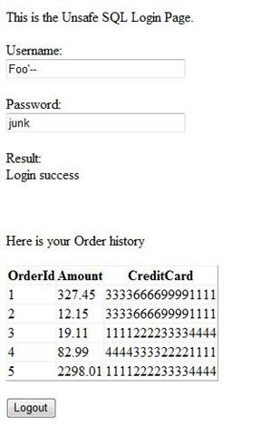 Nazim's Security Blog - SQL Injection Demo