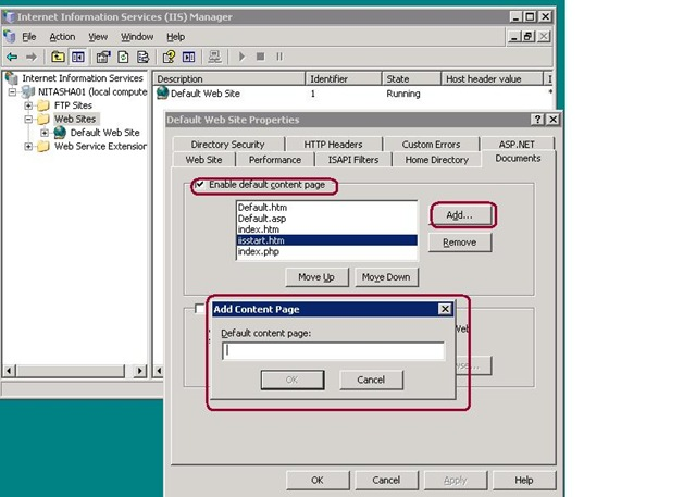 Iis Not Dispalaying Default Page The Asp Net Forums School Index.htm Re Iis Not Dispalaying Default Page