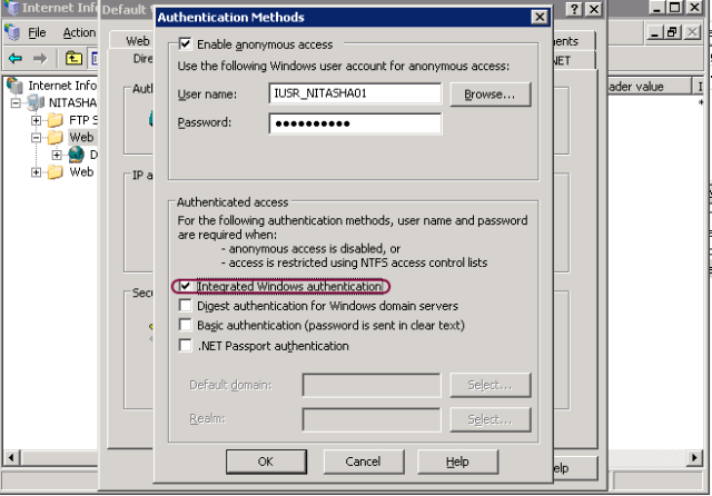 Nitasha's blog - IIS6 0 UI vs  IIS7 x UI Series: Integrated