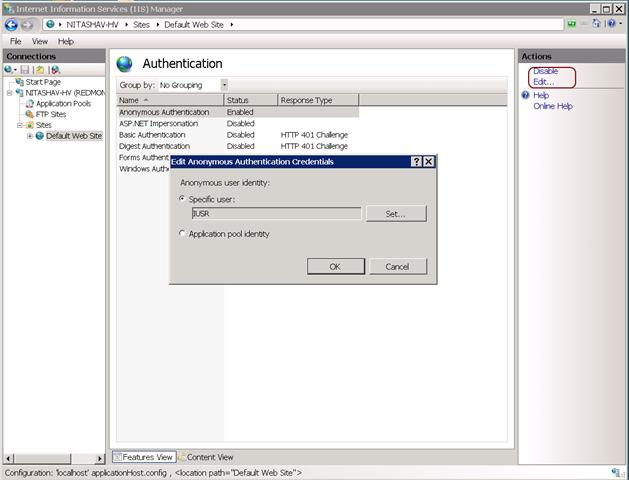iis 6 change application pool user